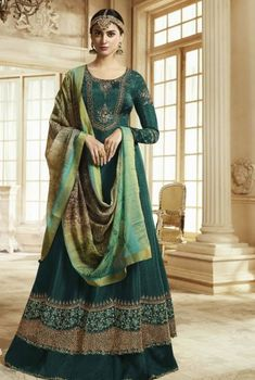 Shop Online through the Handpicked Collection of Wedding Lehengas, Embroidered Sarees, Floor Length Anarkali Suits, Bridal Lehenga Choli, Salwar Kameez and Indian Ethnic dresses Online Shopping at Trendy BIBA Designer Anarkali, Designer Salwar Kameez, Silk Anarkali Suits, Silk Lehenga, Abaya Fashion, Indian Fashion, Style Fashion, Festival Wear, Festival Fashion
