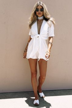 262a5b97f88 Bisque Tie Playsuit - Playsuits by Sabo Skirt