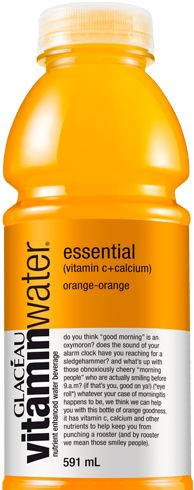 Orange Vitamin water its very tasty...