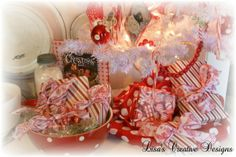 White and Red Christmas Decorations