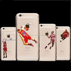 3D sport phone cases for iphone7 6 6s plus 5S hard PC painting cover basketball man star design defend case DHL free