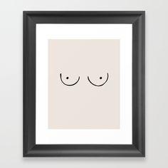 Titty Committee Framed Art Print
