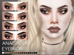 Eyebrows in 18 colors.  Found in TSR Category 'Sims 4 Facial Hair'