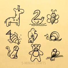 Easy Drawing Tips In 2019 - Art dessin - Art Cute Easy Animal Drawings, Cute Drawings For Kids, Simple Cartoon Drawings, Simple Cute Drawings, Simple Drawings For Kids, Drawing Videos For Kids, Pencil Art Drawings, Doodle Drawings, Art Sketches