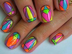 яркий дизайн коротких ногтей - Поиск в Google