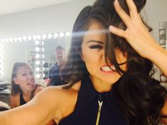 Selena Gomez's selfie that she submitted for the September 2015 Issue of Interview Magazine.