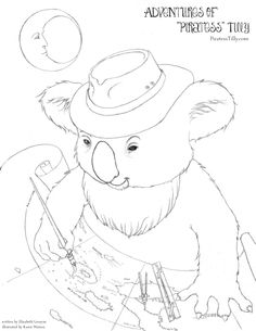 "Adventures of ""Piratess"" Tilly FREE coloring page"