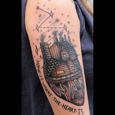 Home is where the heart is. Done in La Tatuajería, Barcelona.