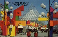 iconoclassic: La Ronde at Expo - Montreal, Quebec (by The Pie Shops) Expo 67 Montreal, Quebec Montreal, Montreal Ville, Canadian Things, Santiago Calatrava, World's Fair, Vintage Postcards, Retro Vintage, The Past