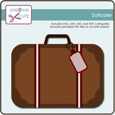 Free Suitcase SVG Paper Piecing File