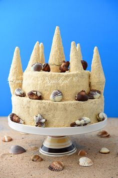 Sandburg- Torte - Jenny L. Cake Shapes, Fabulous Foods, Cakes And More, Tiramisu, Vanilla Cake, Wedding Cakes, Food And Drink, Cooking, Ethnic Recipes