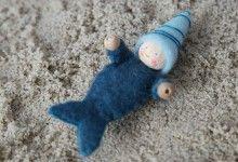zeemeerbaby vilt patroon, felt pattern mermaid baby, het vrolijke nest