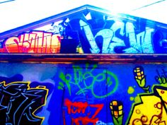 Graffiti house. Color enhanced