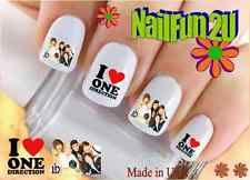 "Nail Art WaterSlide Decals Ready to Go Set#583 ""1D 3 I Love One Direction"" Stckr"