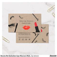 Beauty Biz Eyelashes Lips Mascara Makeup Artist II Business Card