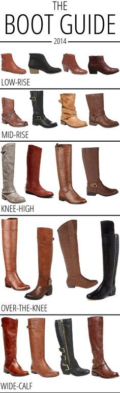 The Boot Guide 2014: favorite low-rise, mid-rise, knee-high, over-the-knee and wide-calf boots! Lbv