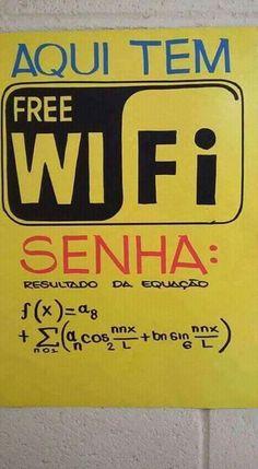 Aqui tem Free wi fi senha: resultado da equação