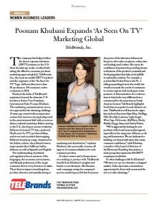 Senior Vice President, International Sales of Telebrands Poonam Khubani is recognized on Forbes Women Business Leaders list!