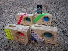 Design Your Own DOCK Box - Acoustic iPhone Amplifier. $60.00, via Etsy. Seen on YHL this week... Look ma, no cords!
