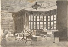 Interior of an English Country House Library    Anonymous, British, late 19th–early 20th century