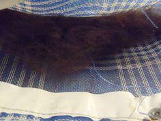 washing raw alpaca fiber