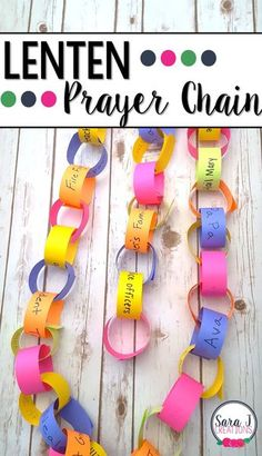 Lenten prayer chain to help kids countdown the days of lent but also build their prayer life