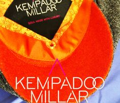 KEMPADOO MILLAR Bespoke Orange  amp  Grey Yorkshire made Flat Cap.  Available at www. 3ba54b9a8c7c