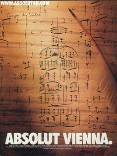 Absolut Vienna  music vodka poster