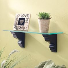 ESTATE GLASS SHELF - BLACK