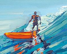 """"""" Oily Glass"""" original oil painting by Steven Pleydell-Pearce http://www.clubofthewaves.com/surf-artist/steve-pleydell-pearce.php Prints are available!"""