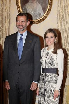Royal Family Around the World: King Felipe VI Of Spain and Queen Letizia Of Spain On A One Day Visit In Luxembourg on November 11, 2014