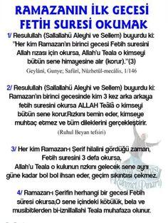Ramazanın ilk gecesi Fetih süresi okumak