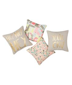 Swap out your sofa or bed's throw pillows for these playful ones. Or, use them in your child's room, since they're classic pieces that will seem just right for years to come.