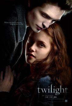 Twilight Movie Poster. Starring Robert Pattinson as Edward and Kristen Stewart as Bella