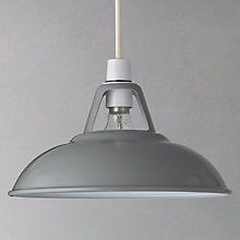 Buy Grey Croft Collection Easy-to-fit Campbell Ceiling Shade from our Ceiling Lighting range at John Lewis. Ceiling Shades, Ceiling Lights, Industrial Lighting, Pendant Lighting, Kitchen Pendants, Light Fittings, Light Shades, Lampshades, Lights