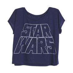 Star Wars Tee (80 BRL) ❤ liked on Polyvore featuring tops, t-shirts, shirts, tees, view all graphic tees, blue shirt, graphic tees, graphic t shirts, graphic print tees and graphic design t shirts