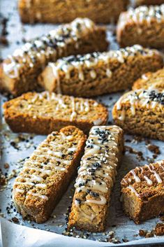 Honey, halva and cardamom biscotti