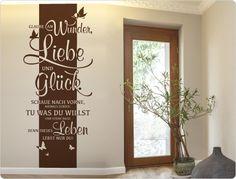 Wandtattoo Wandbanner Glaube an Wunder, Liebe und Glück