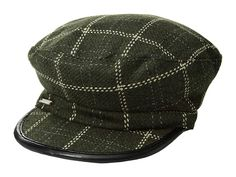 d018e9ea834 Vince Camuto Checked Military (Olive Green) Caps. Get your look in line in