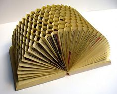 recycled telephone book... honey comb... gorgeous