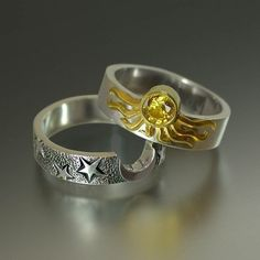 Sun and moon rings that fit together- PERFECT!