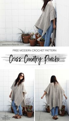 Cross Country Poncho Pattern by Two of Wands - I will never be able to do this but I will keep it