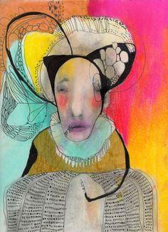 "ORIGINAL Painting, Illustration Portrait Painting, Original Abstract Portrait Painting, Collage Art ""We Speak"" by ChristinaRomeo on Etsy"