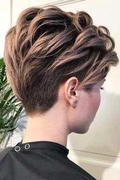 Dark-Blonde-Pixie Trendy Hair Colors for Short Hair for Ladies - pixie Pixie Hairstyles, Pixie Haircut, Short Hairstyles For Women, Trendy Hairstyles, Popular Hairstyles, Undercut Pixie, Haircut Style, Layered Hairstyles, Wedding Hairstyles