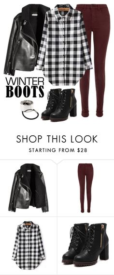"""""""Let me save from reality"""" by cecilialukas on Polyvore featuring H&M and J Brand"""
