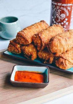 Take-out Egg Rolls--the quintessential crispy, savory Chinese takeout food. Here's a 100% accurate copycat takeout recipe, so you can make them at home!