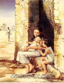 Miriam, Aarón, Moisés bebé en la puerta