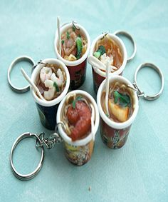 instant noodles keychain