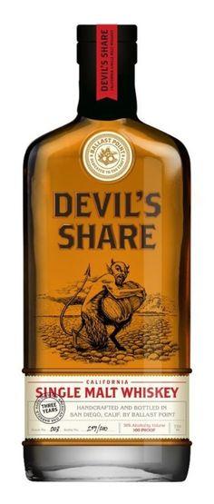 Bottle Label | Ballast Point Brewery | Devils Share Whiskey