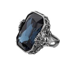 Purple Leopard Boutique - Britannia Gem Blue Swarovski Crystal Pewter Alchemy Gothic Jewelry R188, $60.00 (http://www.purpleleopardboutique.com/britannia-gem-blue-swarovski-crystal-pewter-alchemy-gothic-jewelry-rock-r188/)